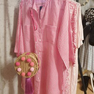 leichte Longbluse one Size pink