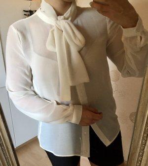 Mango Suit Blouse avec noeuds crème