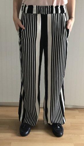 H&M Pantalón anchos negro-blanco