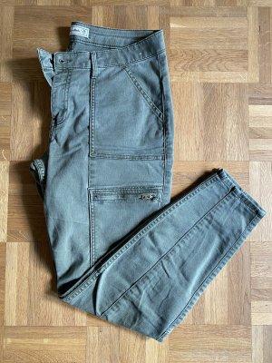 Abercrombie & Fitch Pantalone a 7/8 verde oliva