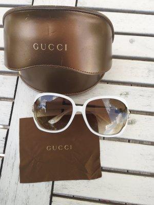 leichte Original Sonnenbrille von Gucci in Weiss in 1a Zustand