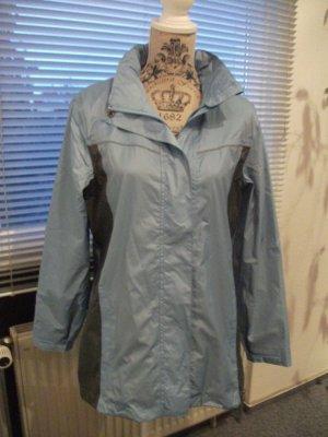 leichte Outdoor / Wind + Wetter Jacke, Gr. 36/38, blau-grau - NEU
