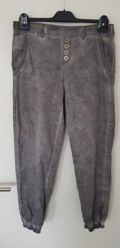 Vintage Diva Pantalon large gris coton