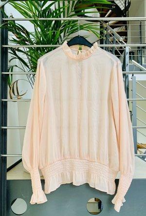 H&M Blouse à volants rose clair