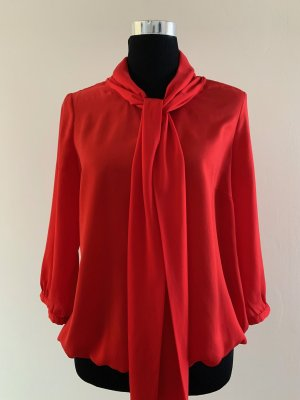 More & More Blouse avec noeuds rouge