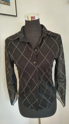 Style Transparentna bluzka czarny