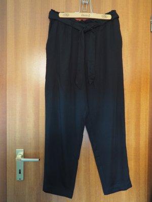 H&M Pantalon fuselé noir viscose