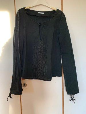 Leichte schwarze Strenesse-BW-Bluse mit Stickerei