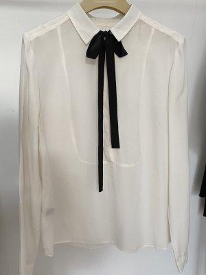 Comptoir des Cotonniers Blouse avec noeuds noir-crème