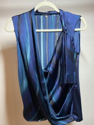 Elie Tahari Blusa brillante blu-blu scuro