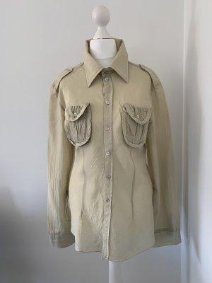 Jedwabna bluzka jasnobeżowy