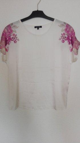 Leichte Sommer Bluse mit Blumen More&More weiß schlicht luftig
