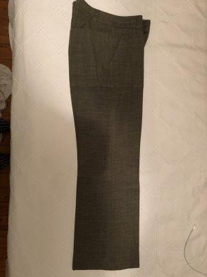 H&M pantalón de cintura baja gris verdoso tejido mezclado