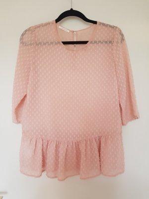 Promod Transparante blouse stoffig roze-rosé