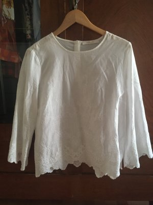 Reserved Kanten blouse wit
