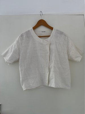True Vintage Linen Blouse white cotton