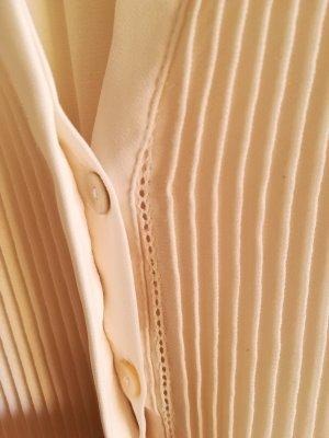 H&M Bluzka ze stójką kremowy Poliester