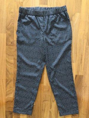 H&M Spodnie dresowe biały-czarny