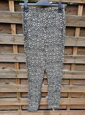 FB Sister Sarouel noir-blanc cassé coton