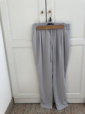 Zara Pantalon en lin gris clair