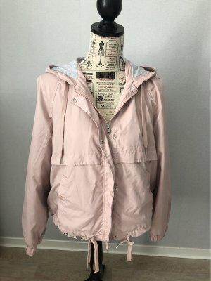 H&M Chaqueta con capucha gris-rosa