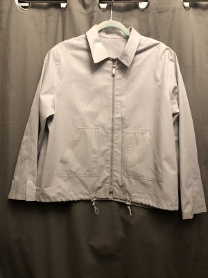 Opus Bluzon jasnoszary-biały