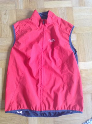 Löffler Sports Vests silver-colored-brick red polyester