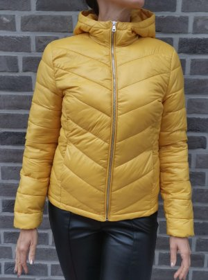 Clockhouse Quilted Jacket dark yellow