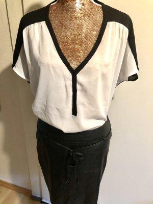 Amisu Camicia oversize bianco-nero