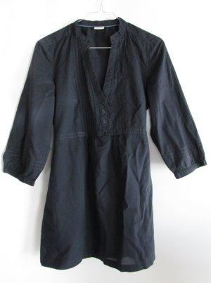 Leichte Tunika Bluse Kleid Esprit Größe S 36 Dunkelblau Navi Blau Biesen Minikleid Kleid Stehkragen