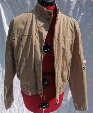 Chaqueta de aviador marrón claro