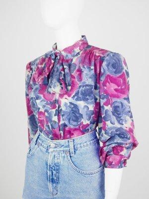 Leichte Vintage Bluse mit Allover Blumen-Print