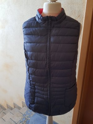 Tchibo / TCM Omkeerbaar vest lichtrood-korenblauw