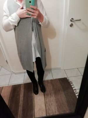 Anna Field Gilet long tricoté gris tissu mixte