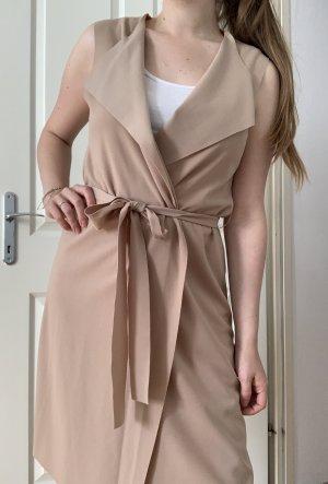 SheIn Long Knitted Vest camel-beige