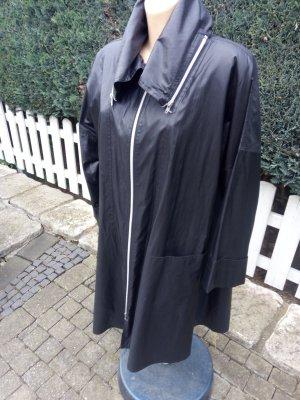 Manteau à capuche noir polyester