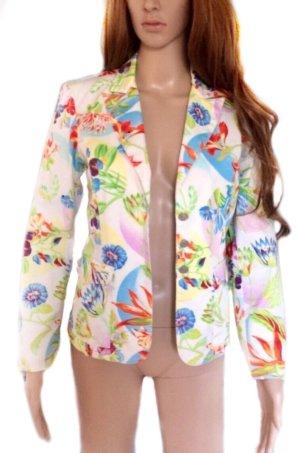 Leichter bunter KENZO Blazer mit floralem Print