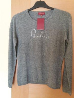 Burberry Kaszmirowy sweter jasnoszary Kaszmir