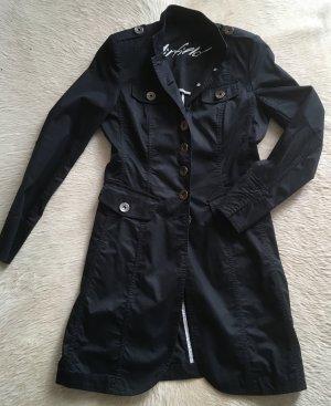 Airfield Redingote noir coton