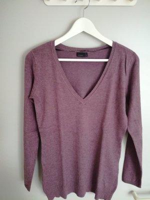 Leichter lila-melierter Pullover von Vero Moda mit V-Ausschnitt