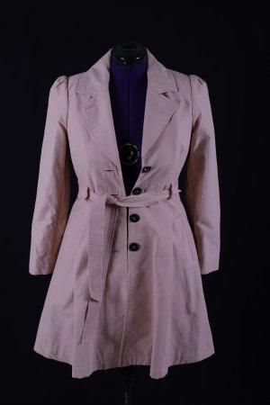 H&M Trenchcoat stoffig roze