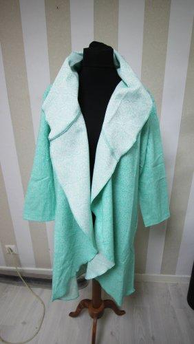 Długi płaszcz biały-miętowy