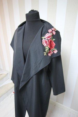 Leichter Mantel Jacke mit Rosen Motiv Blumen