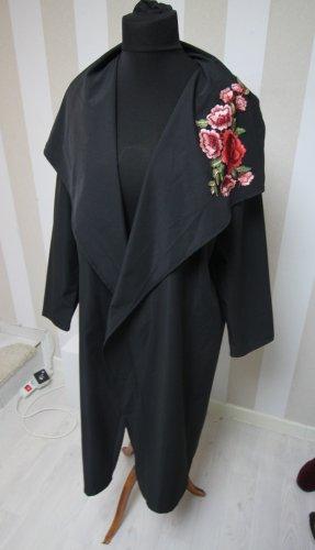 Długi płaszcz czarny