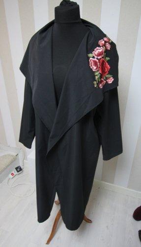 Abrigo largo negro-rojo