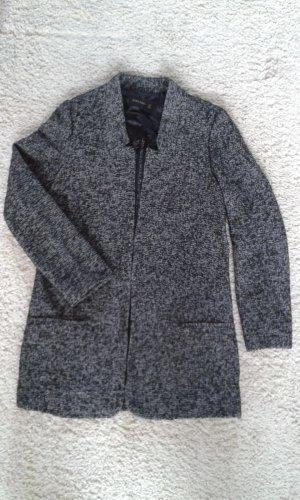 Zara Short Coat white-black