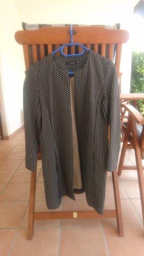 Hallhuber Krótki płaszcz czarny-jasnobeżowy
