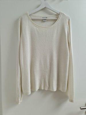 Ichi Sweter oversize w kolorze białej wełny Bawełna