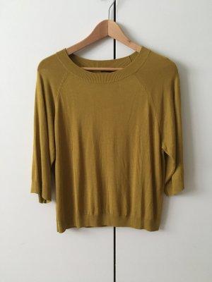 H&M Sweater met korte mouwen olijfgroen