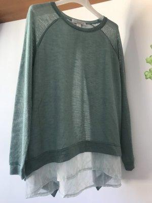 Amisu Long Sweater turquoise-white